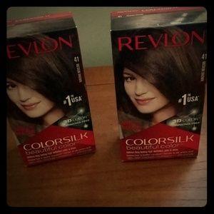 not opened Hair color dye medium brown